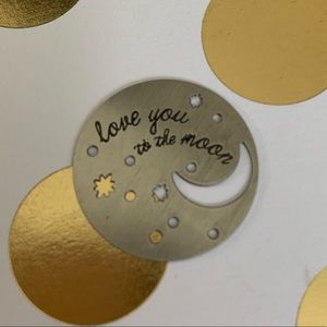 Origami Owl love you to the moon and back plate
